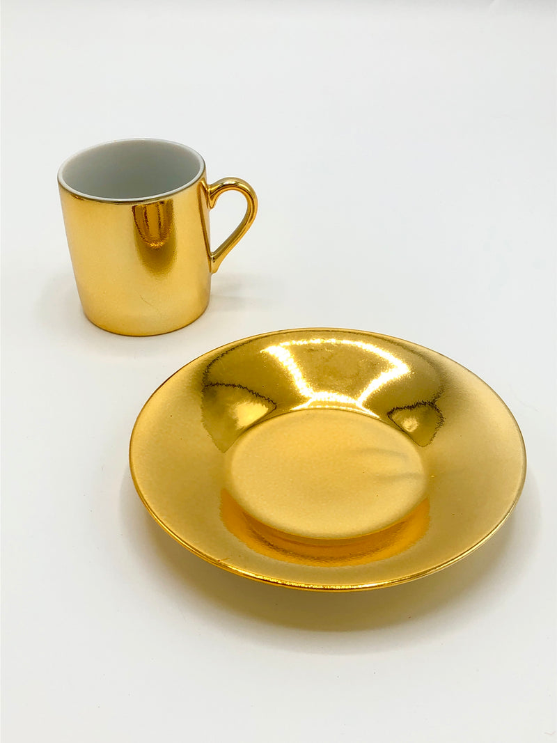 Vintage Gold-Plated Demitasse Duo