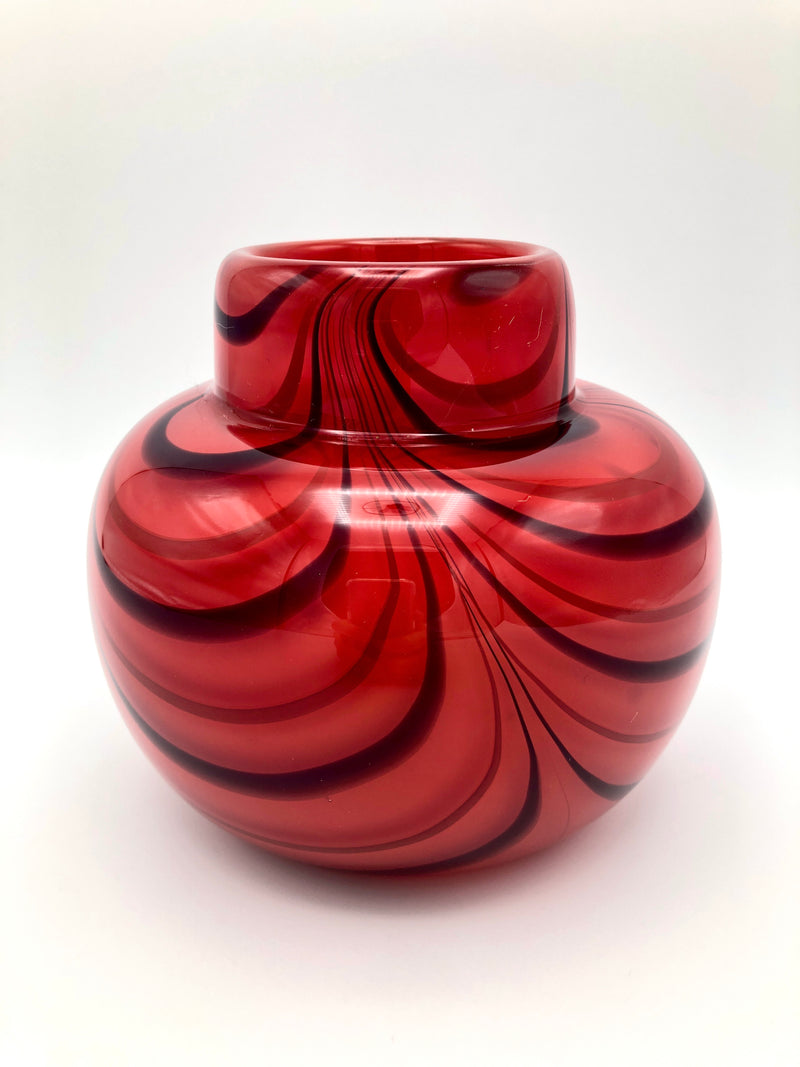 Vintage Hand-Blown Art Glass Vase