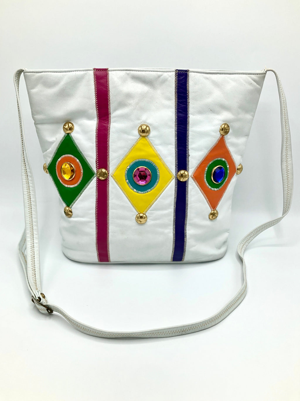 Vintage Multicolor Genuine Leather Bag