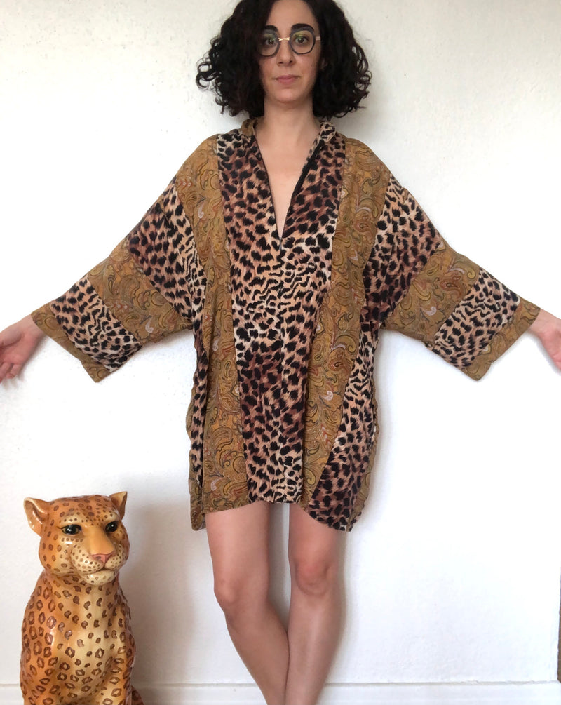 Vintage Animal Print House Dress