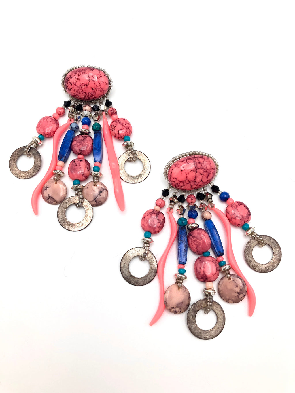 Vintage Beaded Fringe Earrings