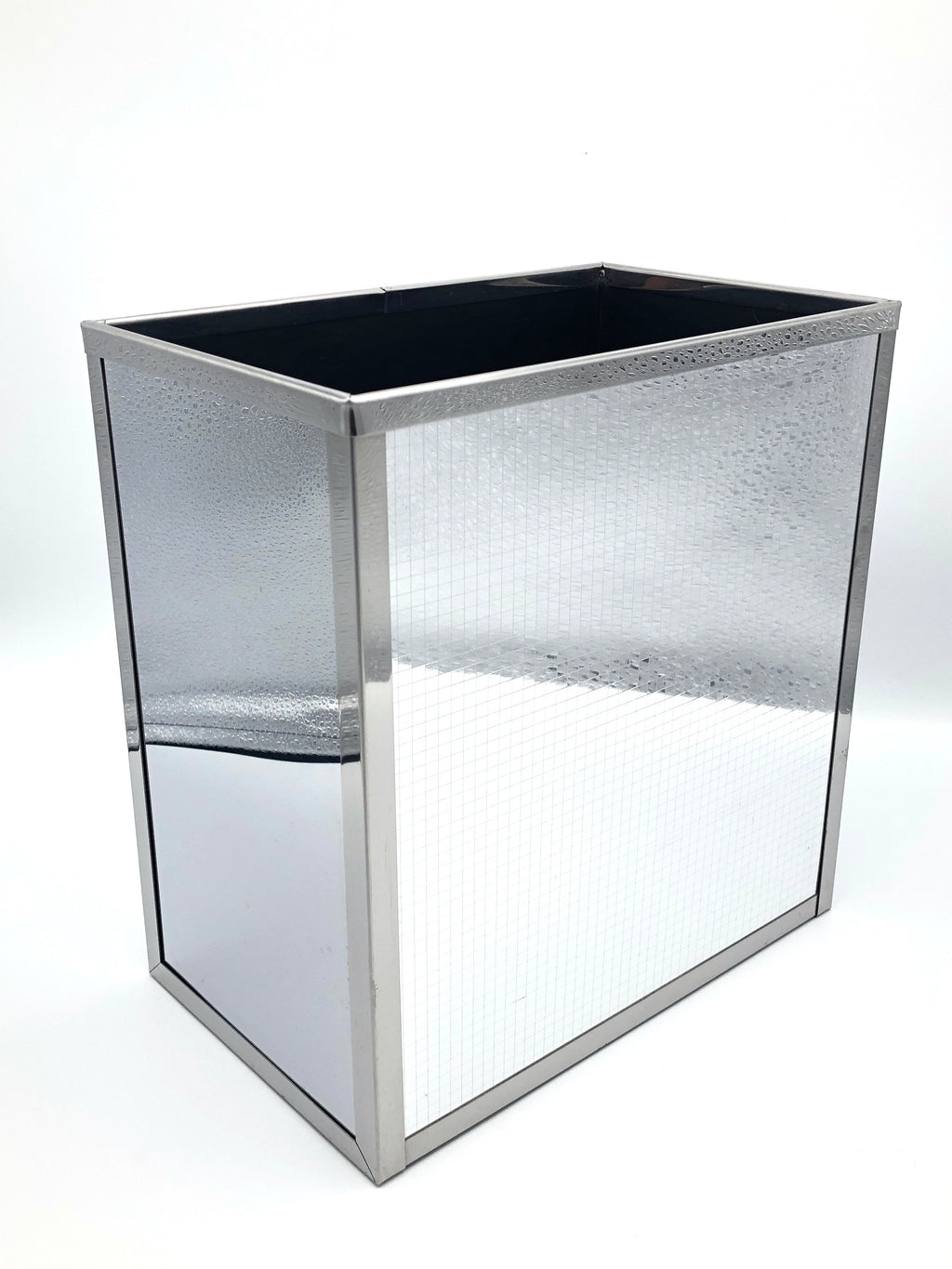Vintage Mirror-Polished Metal Wastebasket