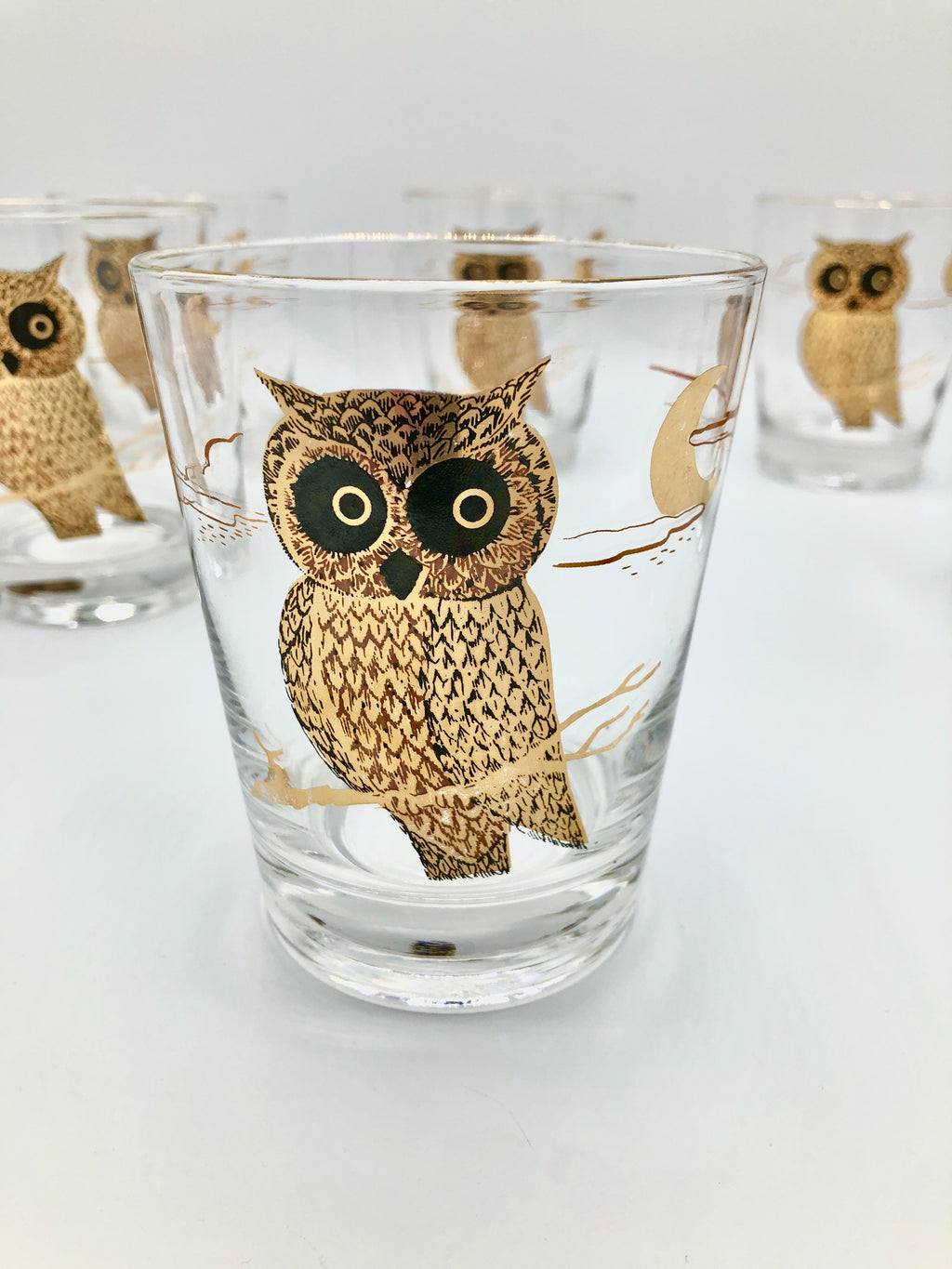 Vintage 22k Gold-Plated Owl Glasses