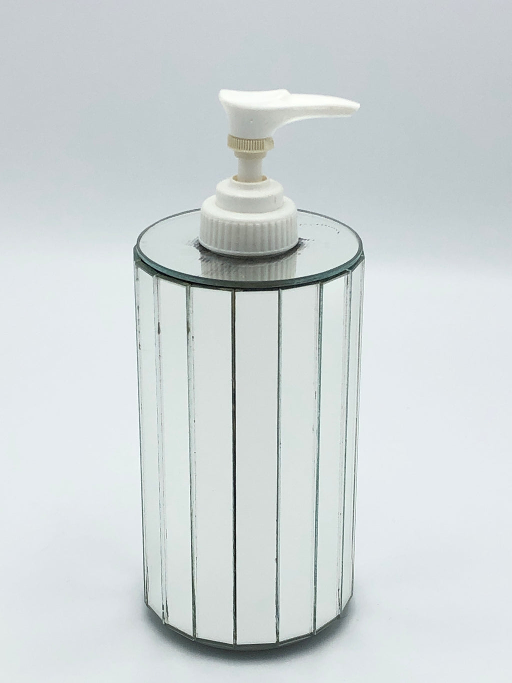 Vintage Faceted Mirror Soap Pump