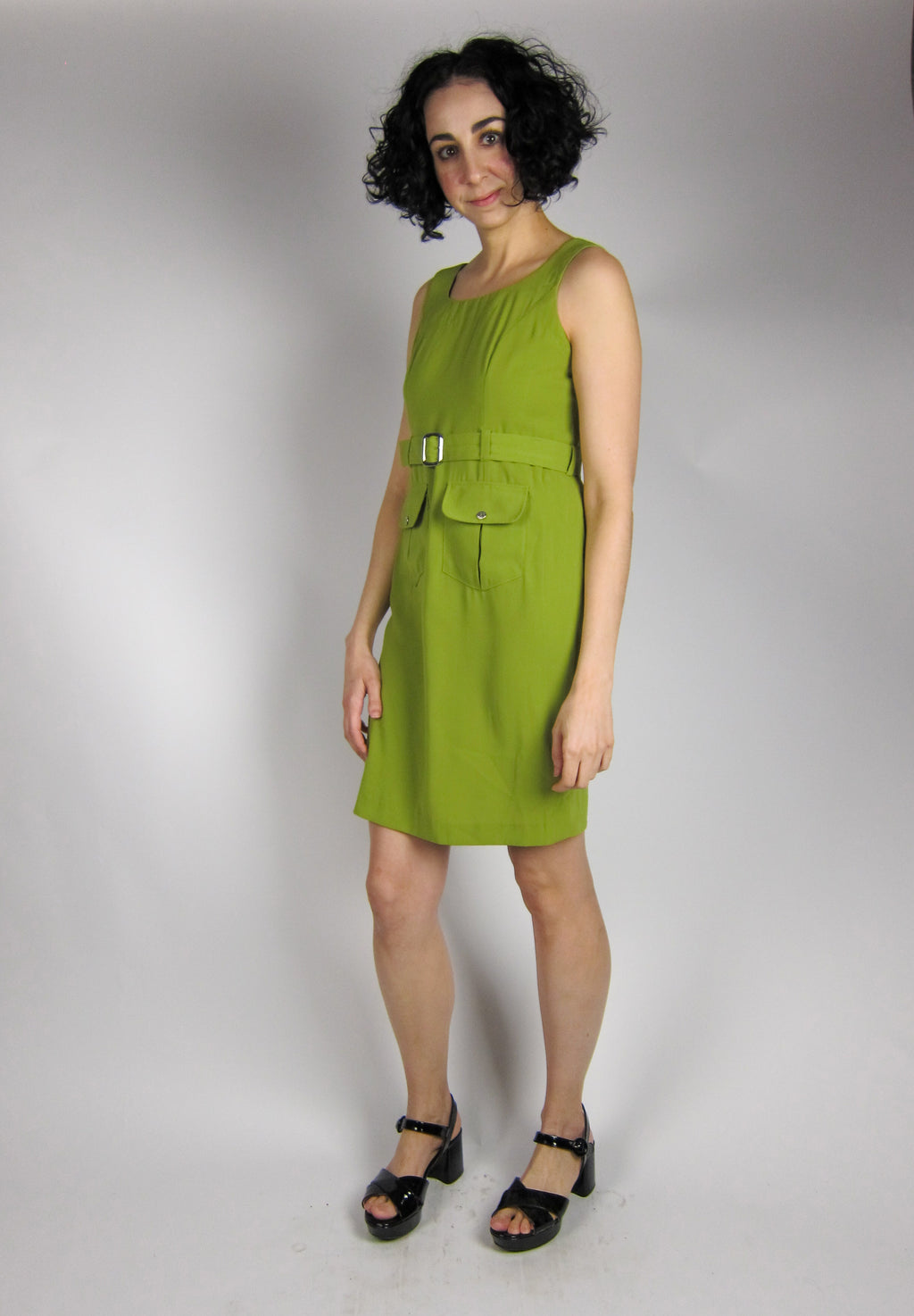 Vintage Chartreuse Green Dress
