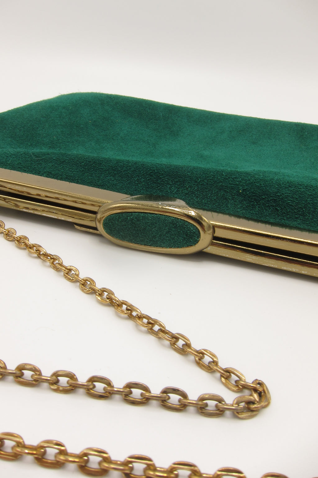 Vintage Green Suede Purse