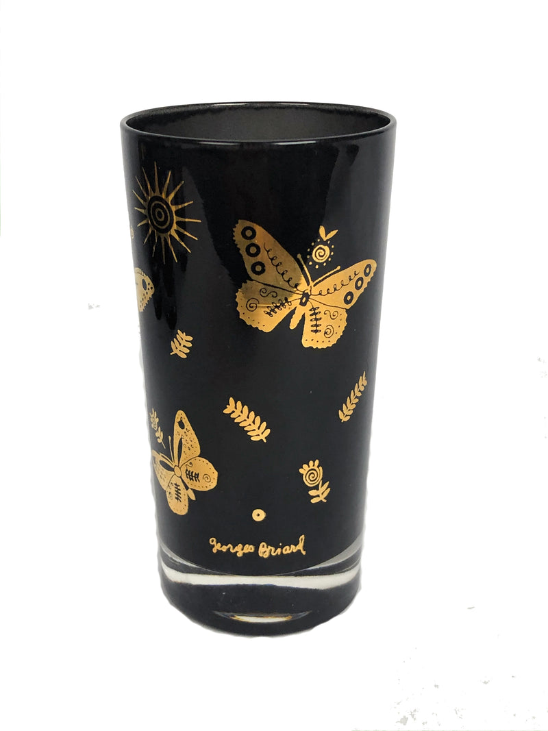 Vintage Georges Briard Butterfly Glasses