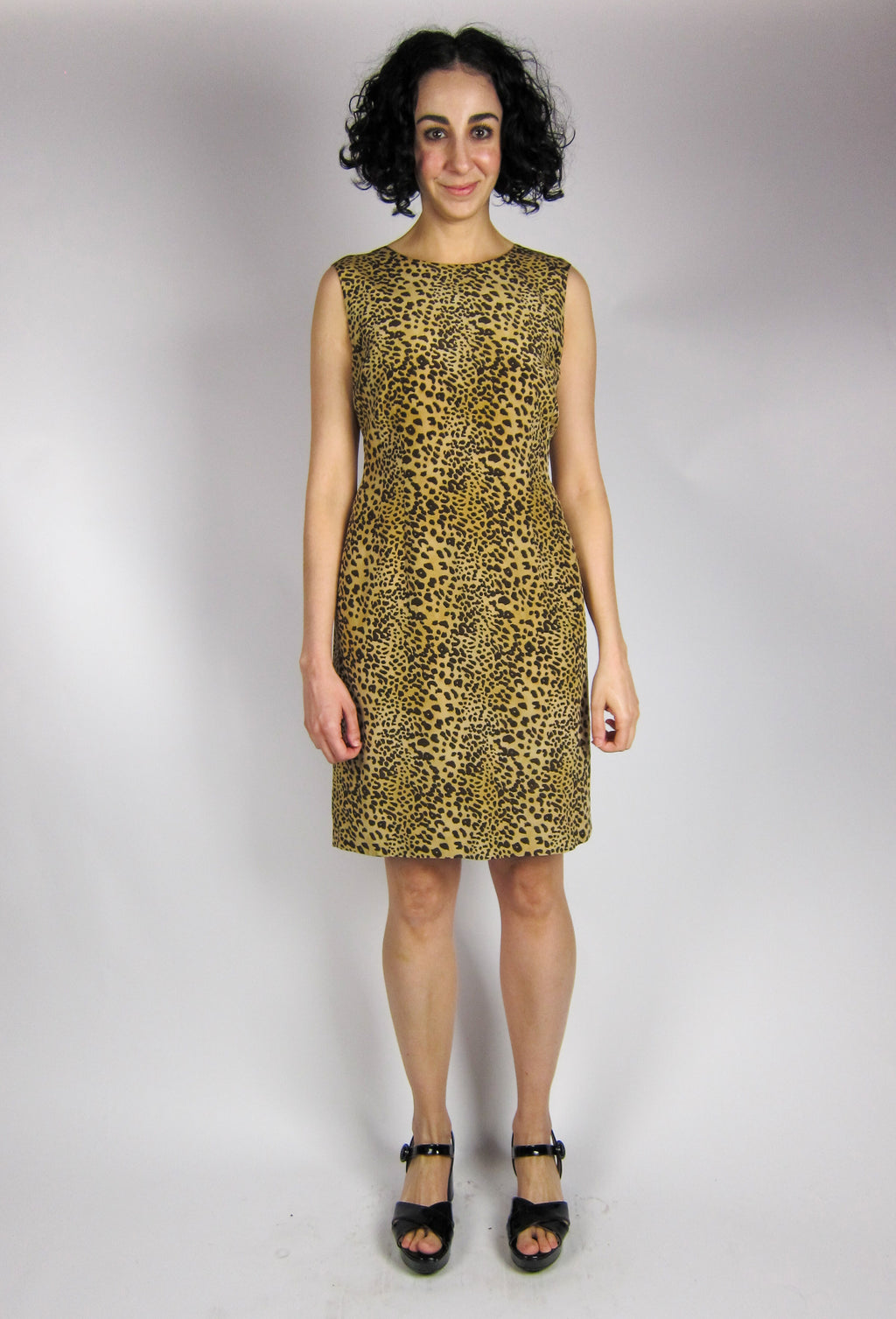 Vintage Silk Leopard Print Dress