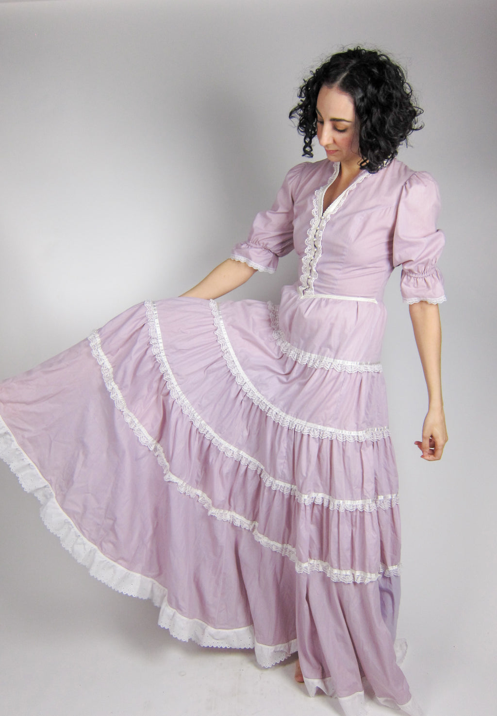 Vintage Gunne Sax Purple Prairie Dress