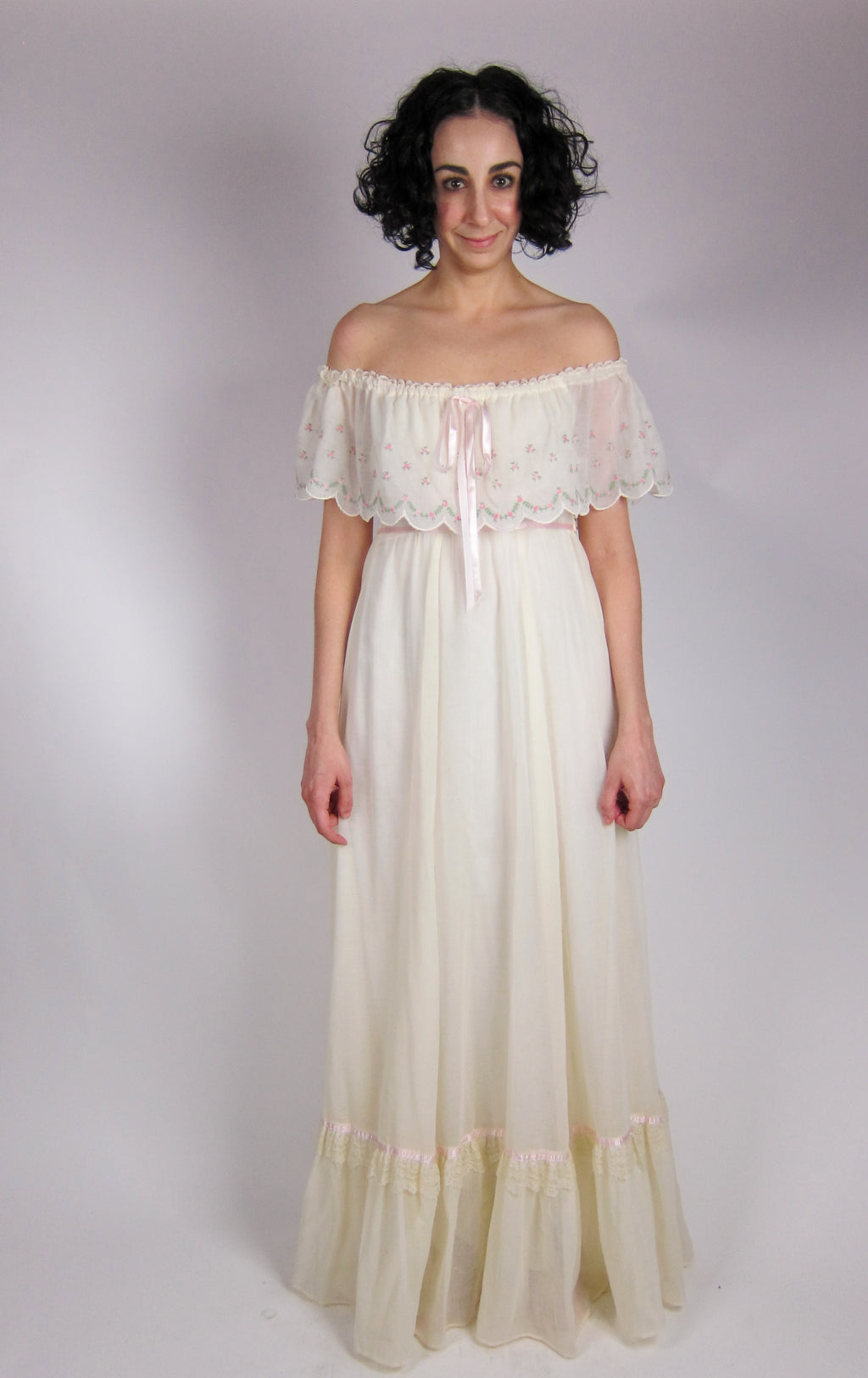 Vintage Gunne Sax Gauze Dress