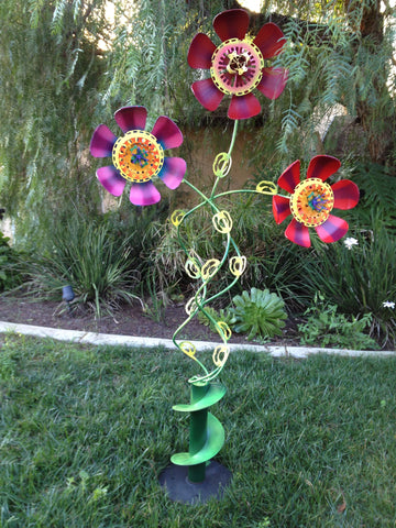 Upcycled Metal Sculptures - Fish, Flowers and Ocean Related