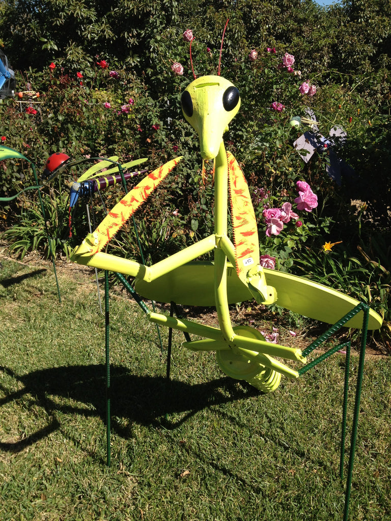 Jorge the Preying Mantis-Upcycled Metal Sculpture & Yard Art