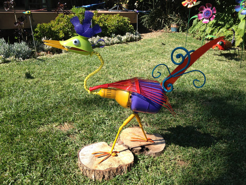 Rhoda the Road Runner Reclaimed Repurposed Sculpture