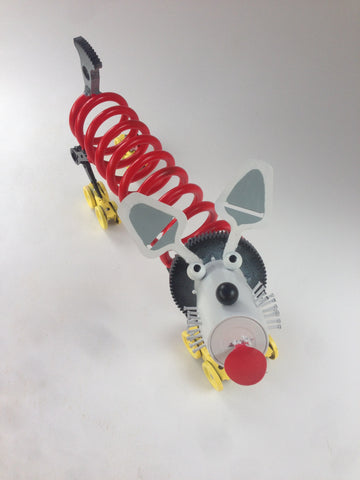 Red Dog Upcycled Metal Sculpture