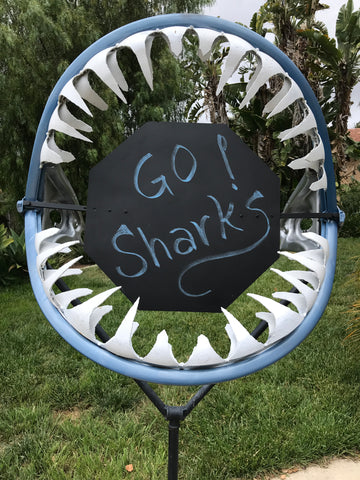 Shark Jaws Upcycled Metal Sculpture