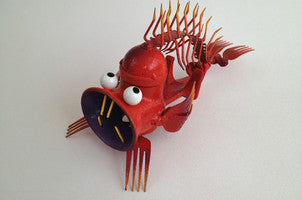 Garcia the stone fish made from meat grinder