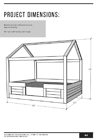 House Bed PDF Plans