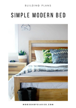 Load image into Gallery viewer, DIY Modern Bed Frame PDF Plans