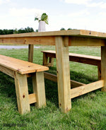 Load image into Gallery viewer, Trestle Table & Bench Building Plans
