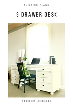 Load image into Gallery viewer, DIY Storage Desk PDF Plans