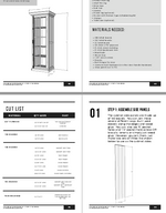 Load image into Gallery viewer, Glass Door Linen Cabinet PDF Plans