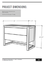 Load image into Gallery viewer, Modern Nightstand PDF Plans