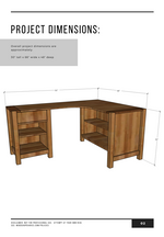 Load image into Gallery viewer, DIY L Shaped Desk with Shelves