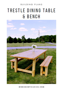 Trestle Table & Bench Building Plans