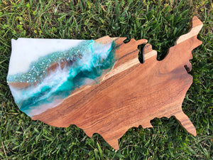 Blue Oasis Cheese Board/Cutting Board