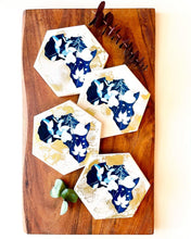 Load image into Gallery viewer, Cyanotype In the Beginning Coasters
