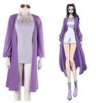 One Piece Nico Robin Purple Outfit Cosplay Costume
