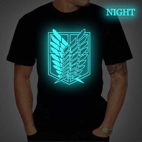 Attack on Titan Luminous Glow in The Dark T-Shirt