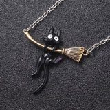 Kiki's Delivery Service Jiji Black at Pendant Necklace
