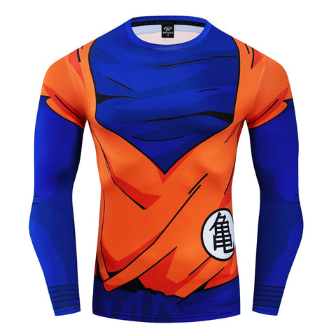 Dragon Ball Z Goku Orangi Gi Turtle Kanji Workout Long Sleeve Shirt