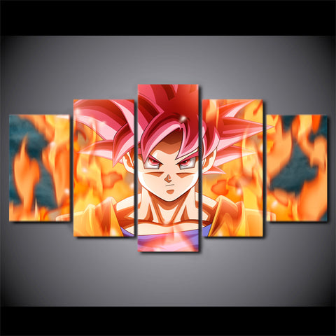Dragon Ball Z Goku Super Saiyan God Art Canvas