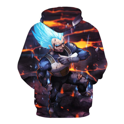 Dragon Ball Z Vegeta Super Saiyan Blue Hoodie