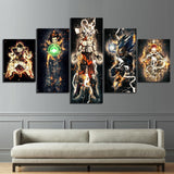Dragon Ball Z Dark Energy Characters Art Canvas