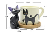 Studio Ghibli Kiki's Delivery Service Jiji Black Cat Figure Coffee Mug
