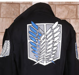 Attack on Titan Windbreaker Cape Black