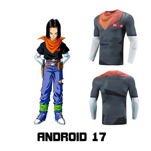 Dragon Ball Z Android 17 Cosplay Long Sleeve Shirt
