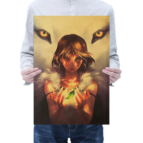 Princess Mononoke San Wall Poster Sticker