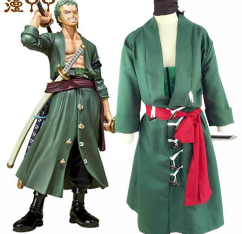 One Piece Roronoa Zoro Costume Cosplay Robe