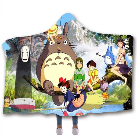 My Neighbor Totoro Soft Hooded Blanket 130 x 150cm