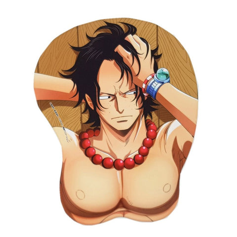 One Piece Portgas D. Ace Wrist Rest Mouse Pad