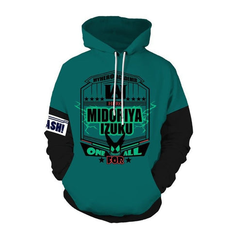 My Hero Academia Izuku Midoriya One For All Hoodie