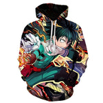 My Hero Academia Izuku Midoriya Fighting Mode Hoodie