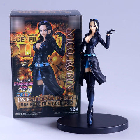 One Piece Nico Robin Black Costume Action Figure Model
