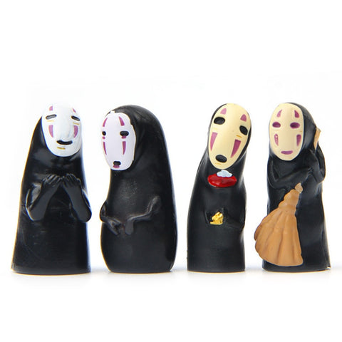 Spirited Away No Face Model Figures Character Collection 4 pcs/set