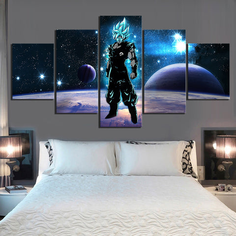 Dragon Ball Z Goku Super Saiyan Blue Universe Art Canvas