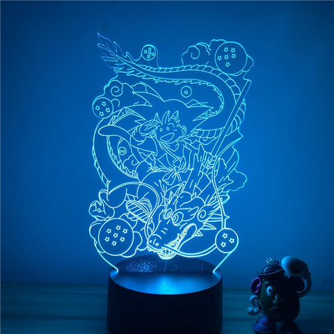Dragon Ball Z Kid Goku Magical Dragon Shenron LED Lamp Figure